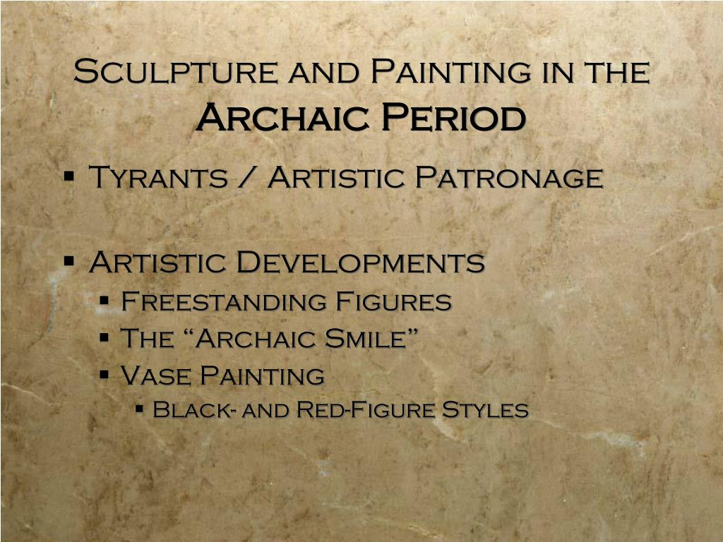Sculpture and Painting in the