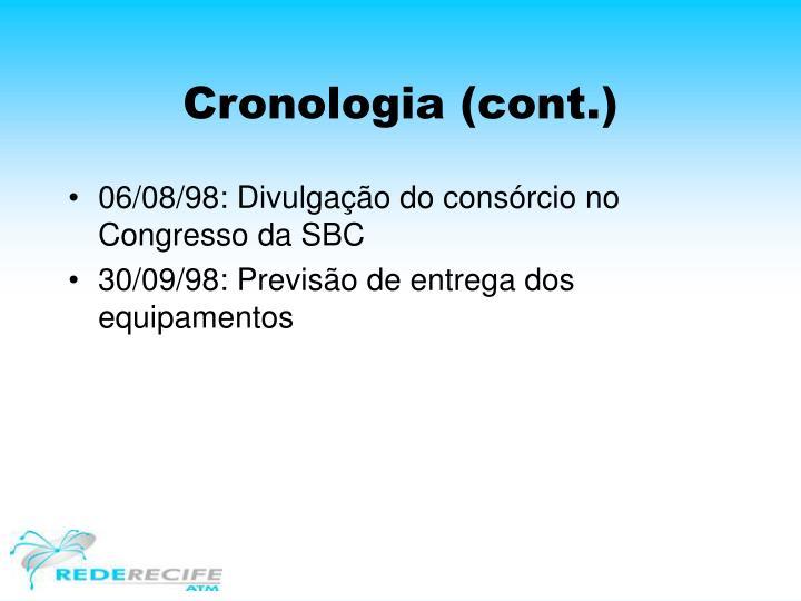 Cronologia (cont.)