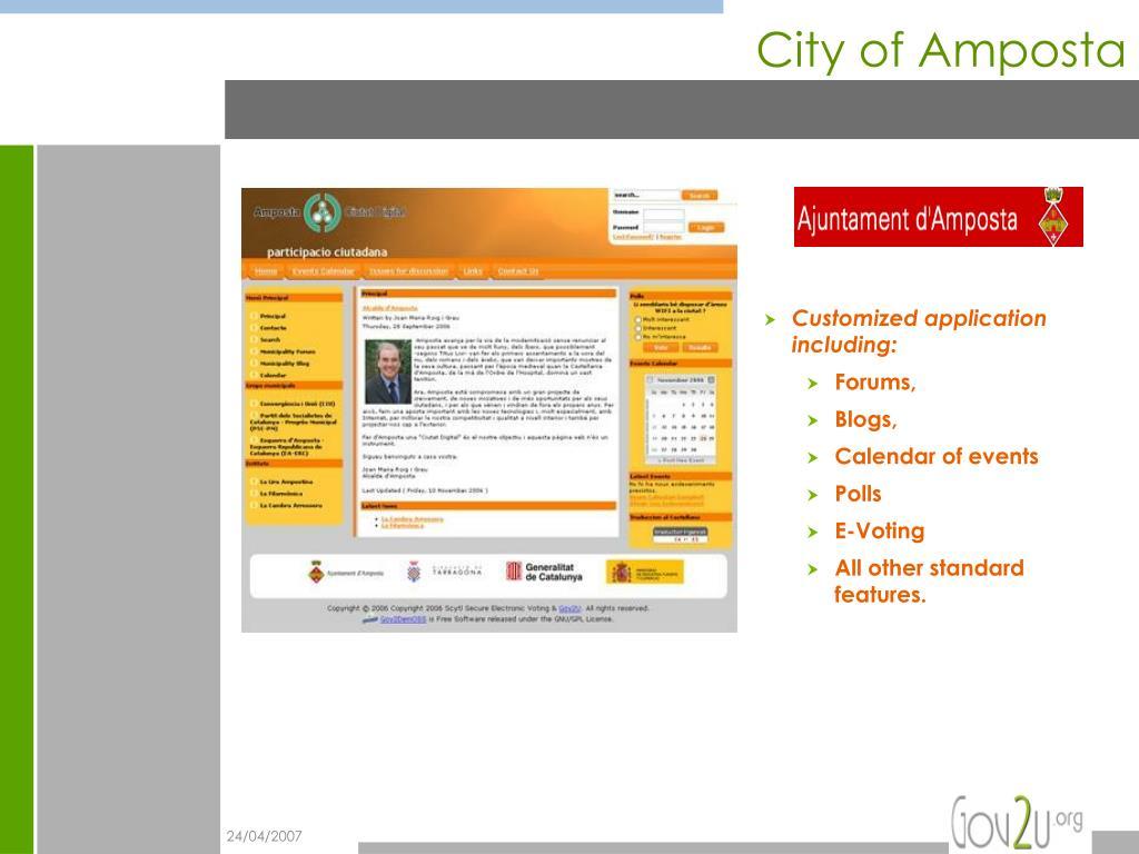 City of Amposta