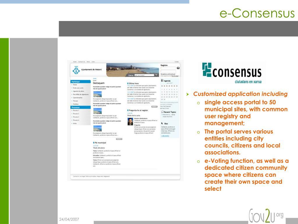 e-Consensus
