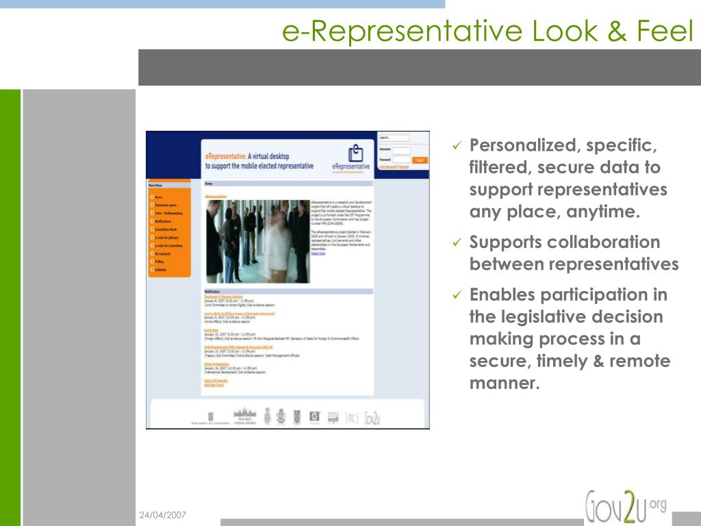 e-Representative Look & Feel