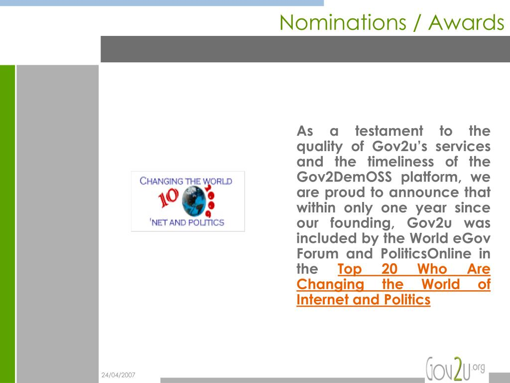 Nominations / Awards