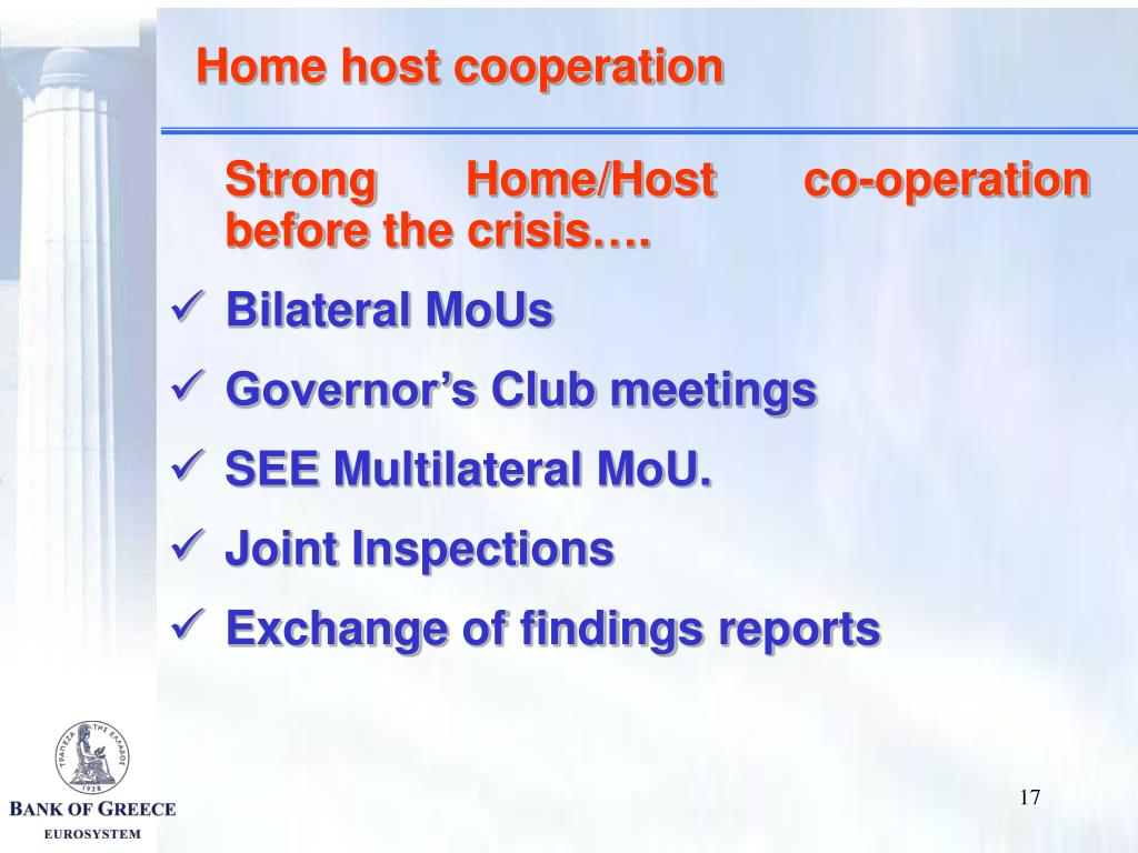 Home host cooperation