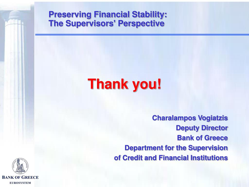 Preserving Financial Stability: