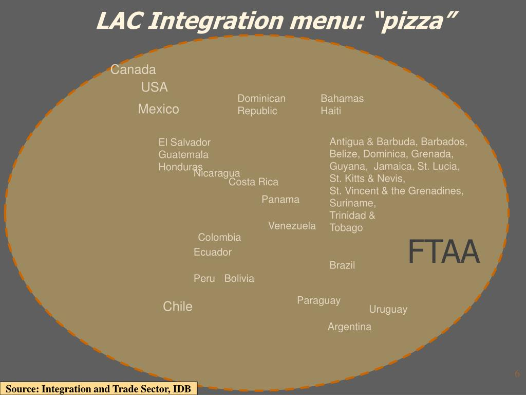 "LAC Integration menu: ""pizza"""