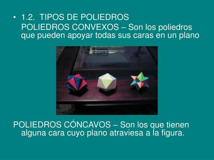 1.2.  TIPOS DE POLIEDROS