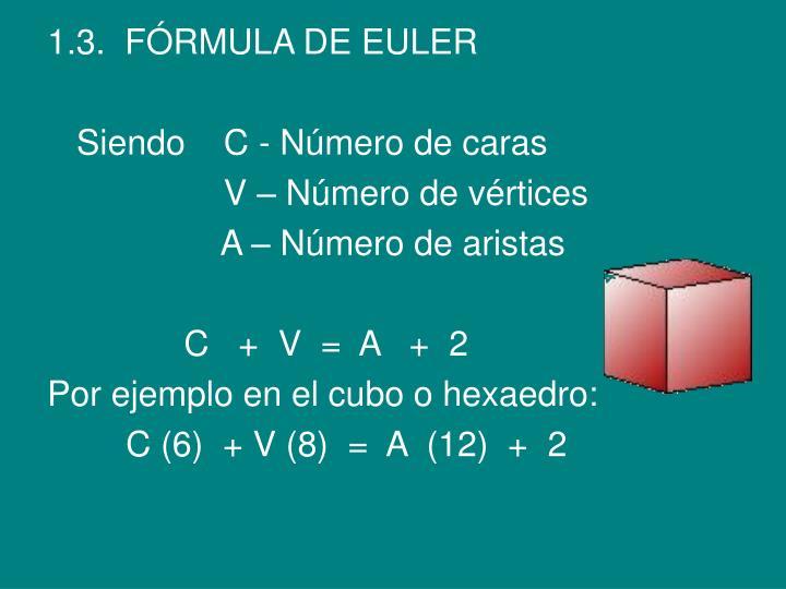 1.3.  FÓRMULA DE EULER