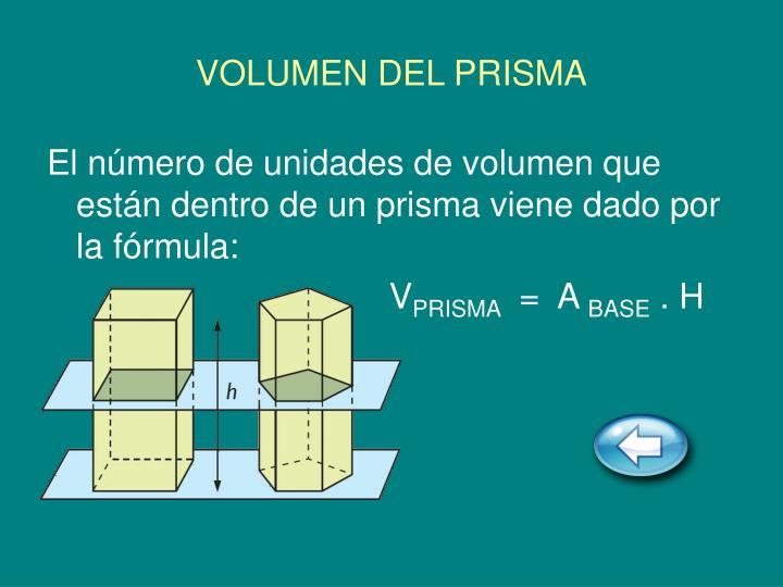 VOLUMEN DEL PRISMA
