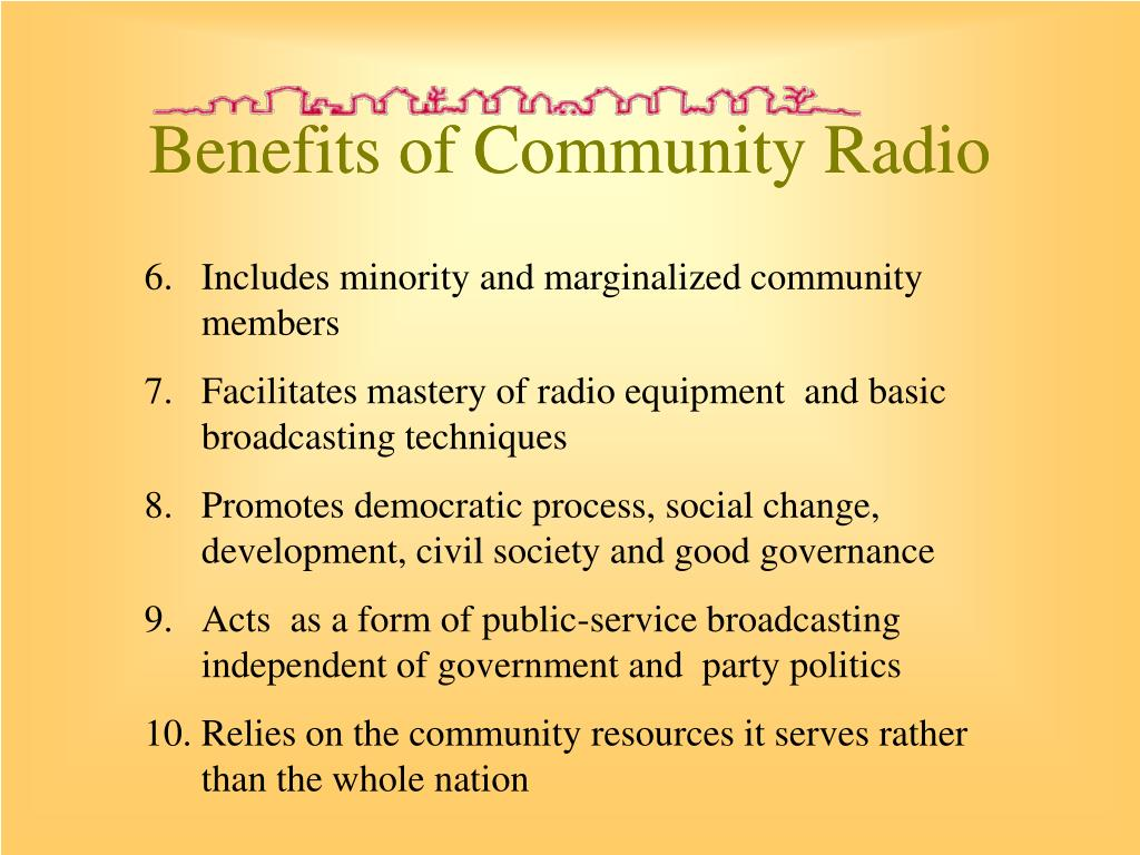 Benefits of Community Radio