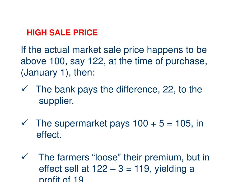 HIGH SALE PRICE