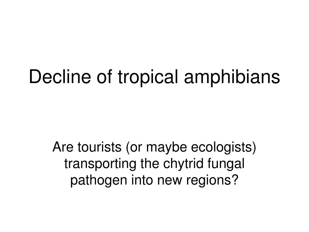 Decline of tropical amphibians