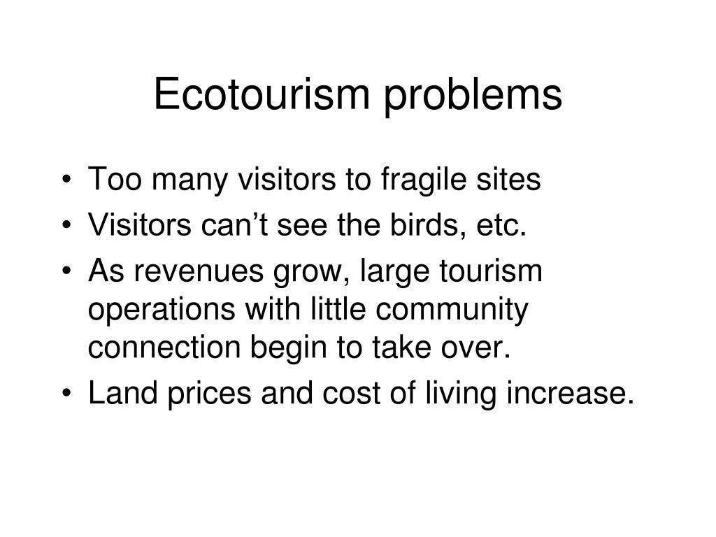 Ecotourism problems