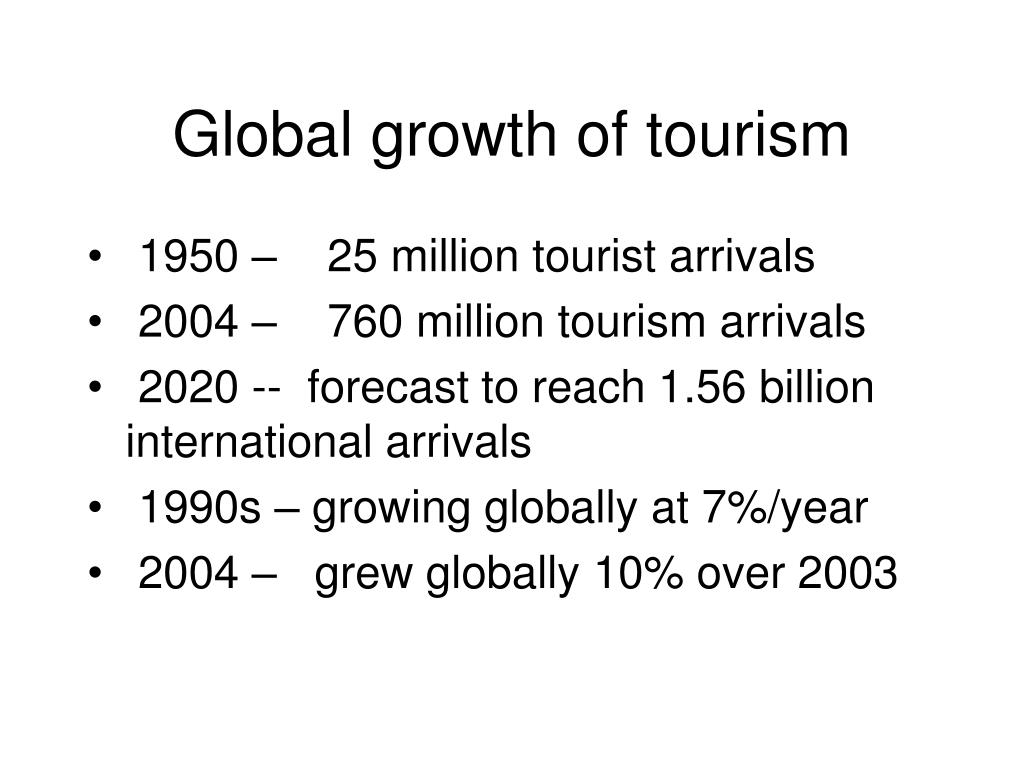 Global growth of tourism