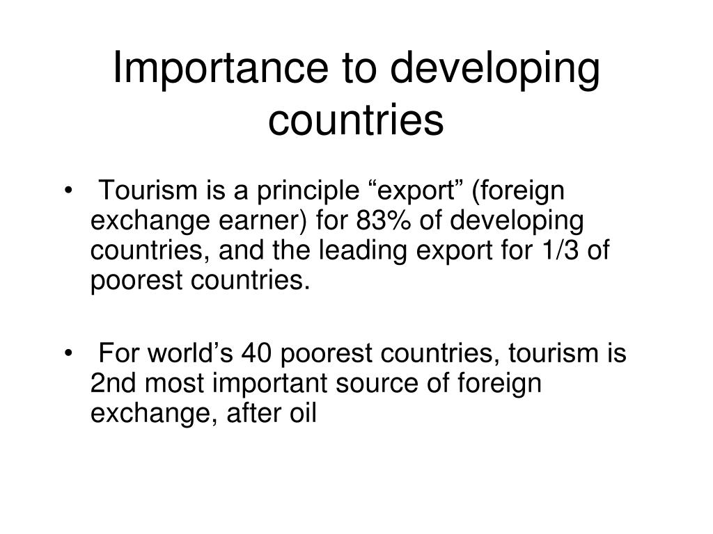 Importance to developing countries