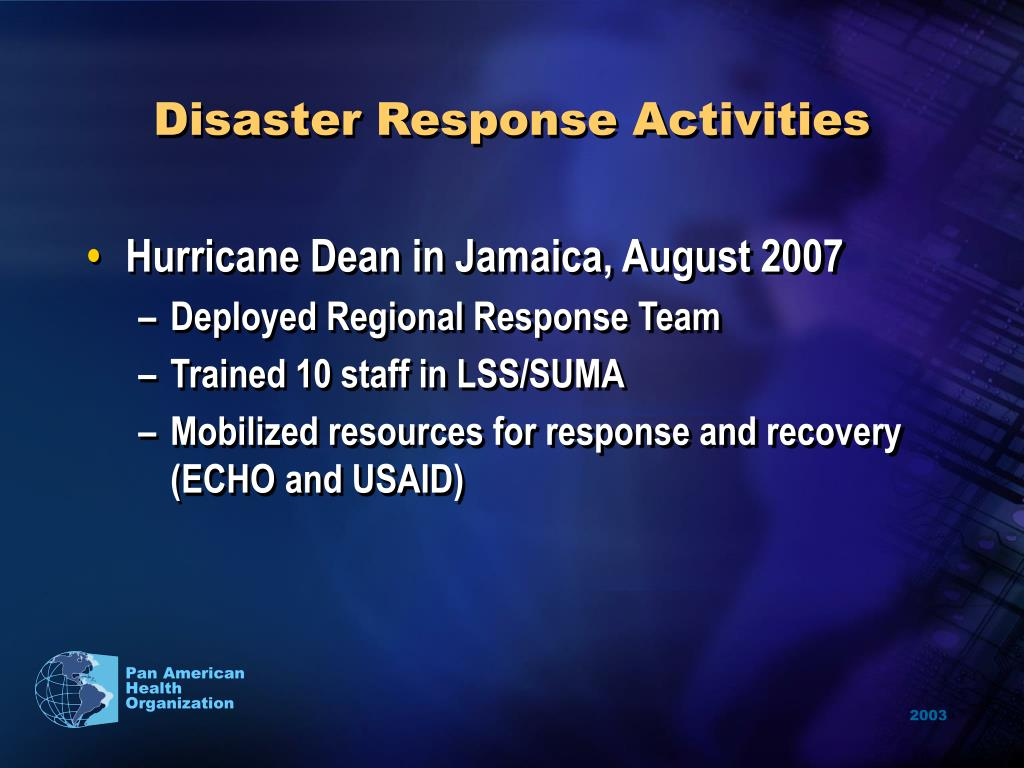 Disaster Response Activities