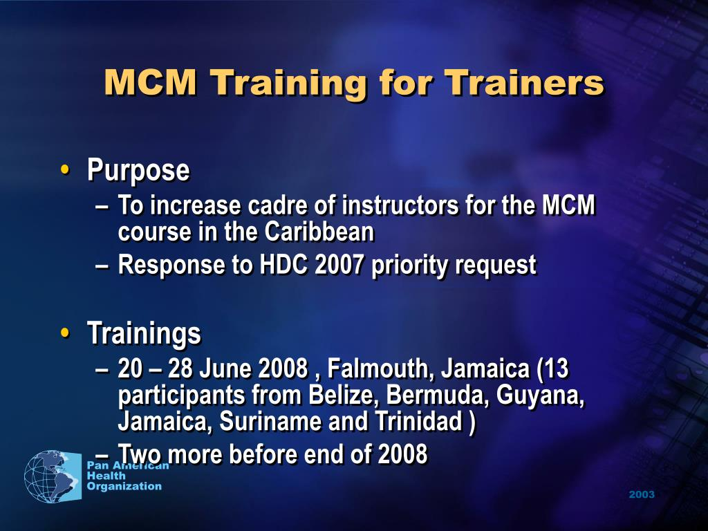 MCM Training for Trainers