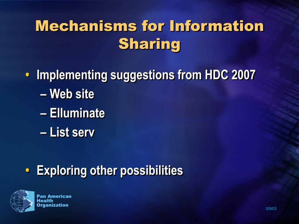 Mechanisms for Information Sharing