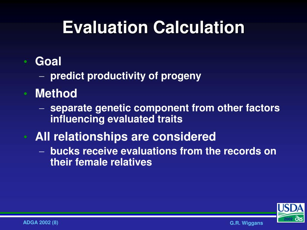 Evaluation Calculation