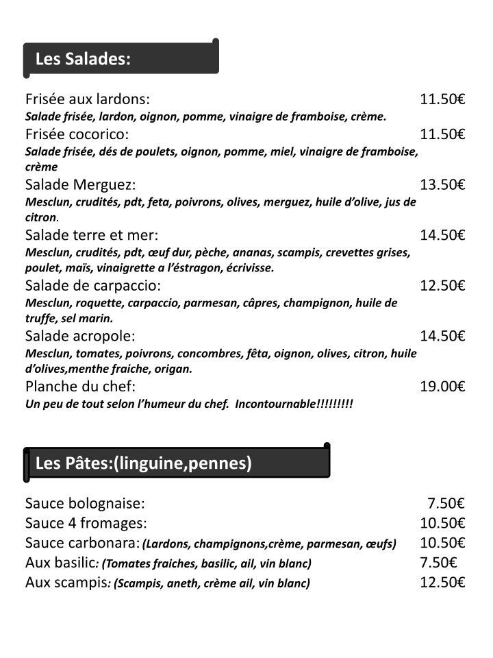 Les Salades: