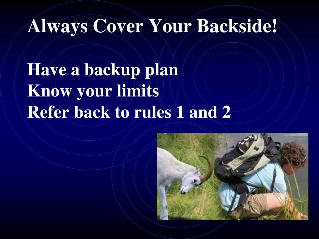 Always Cover Your Backside!
