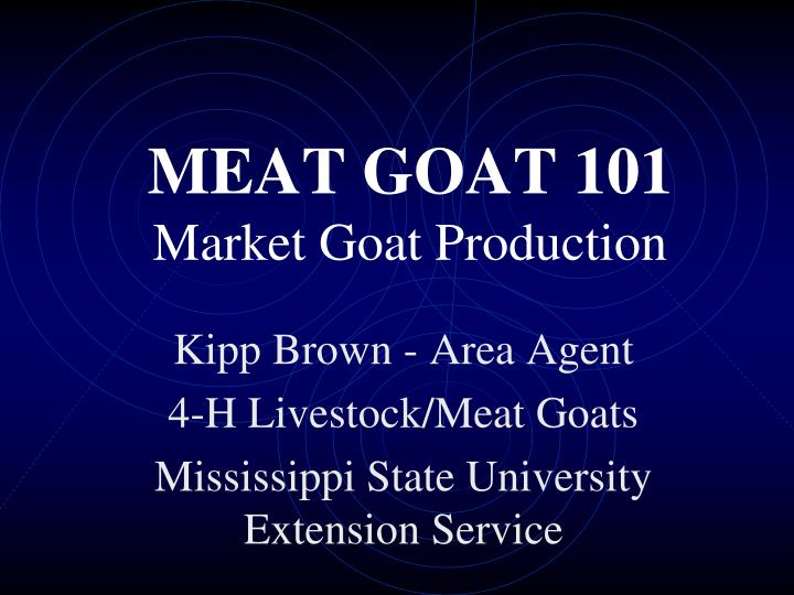 Meat goat 101 market goat production l.jpg