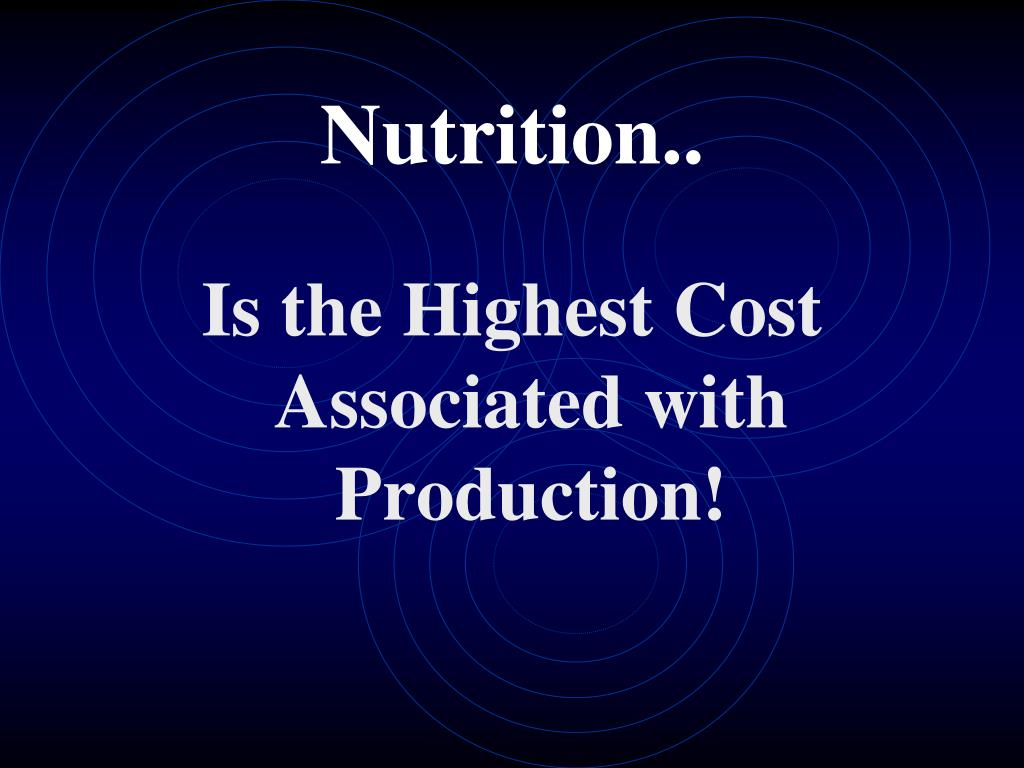 Nutrition..
