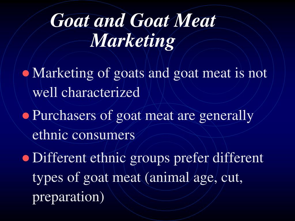 Goat and Goat Meat Marketing