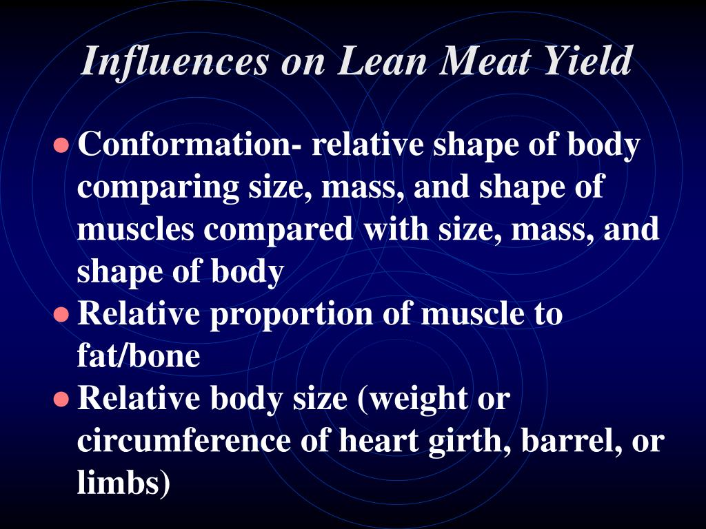 Influences on Lean Meat Yield