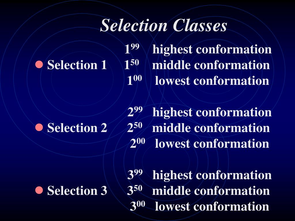 Selection Classes