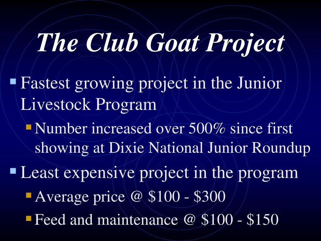 The Club Goat Project