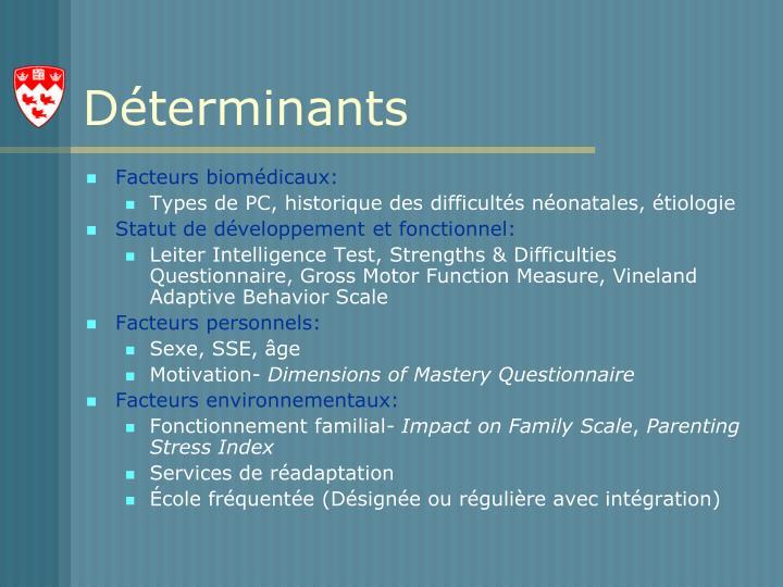 Déterminants
