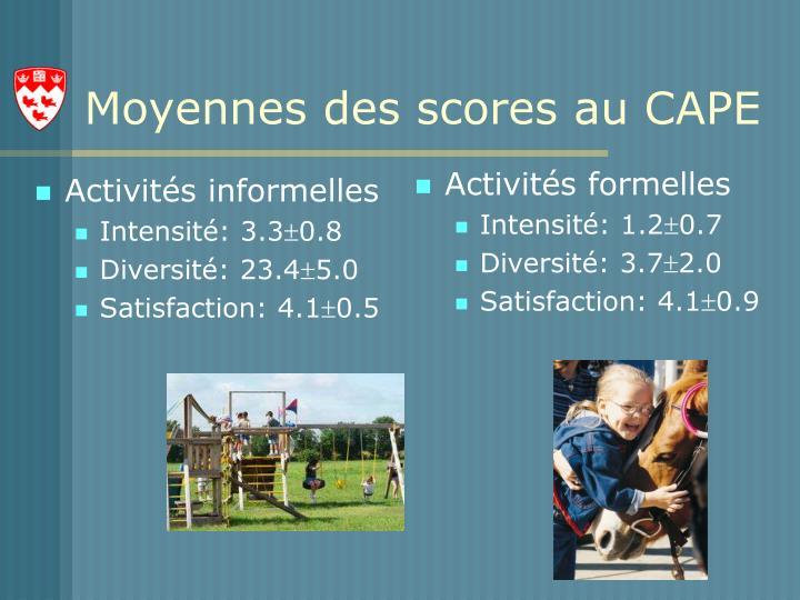 Activités informelles