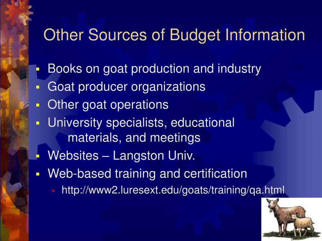 Other Sources of Budget Information