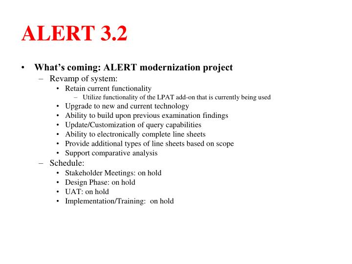 ALERT 3.2