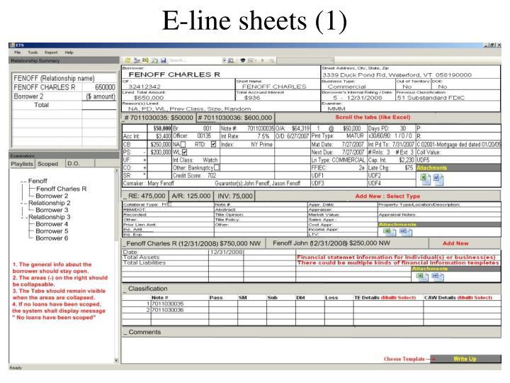 E-line sheets (1)