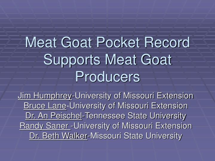 Meat goat pocket record supports meat goat producers l.jpg