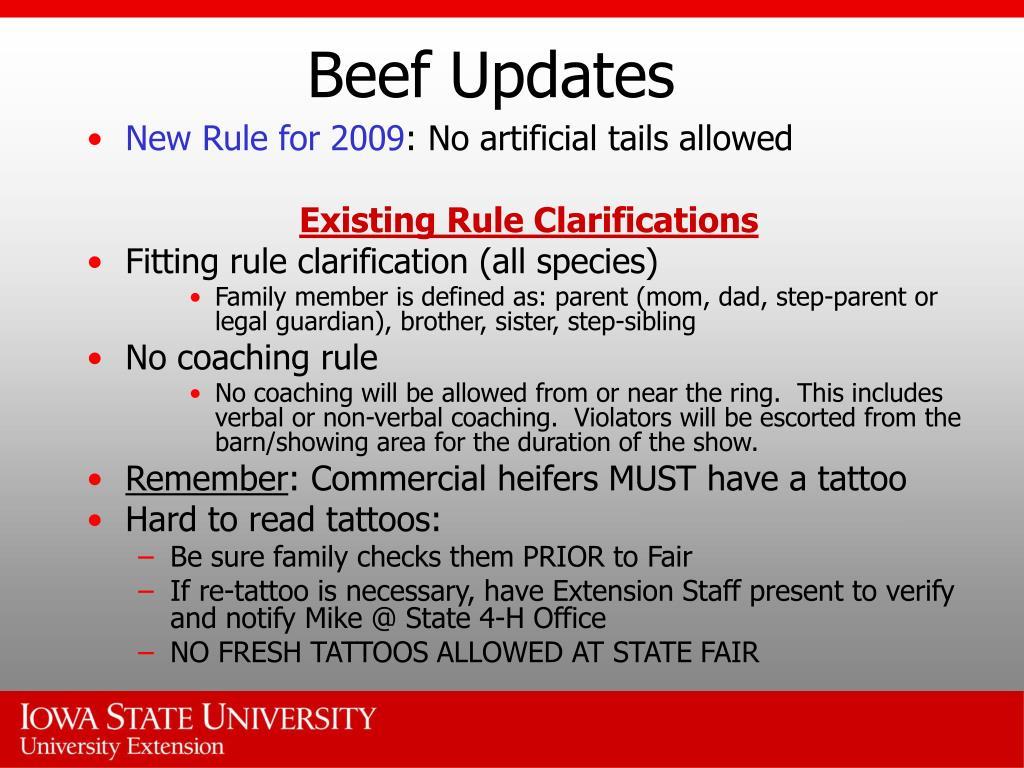 Beef Updates
