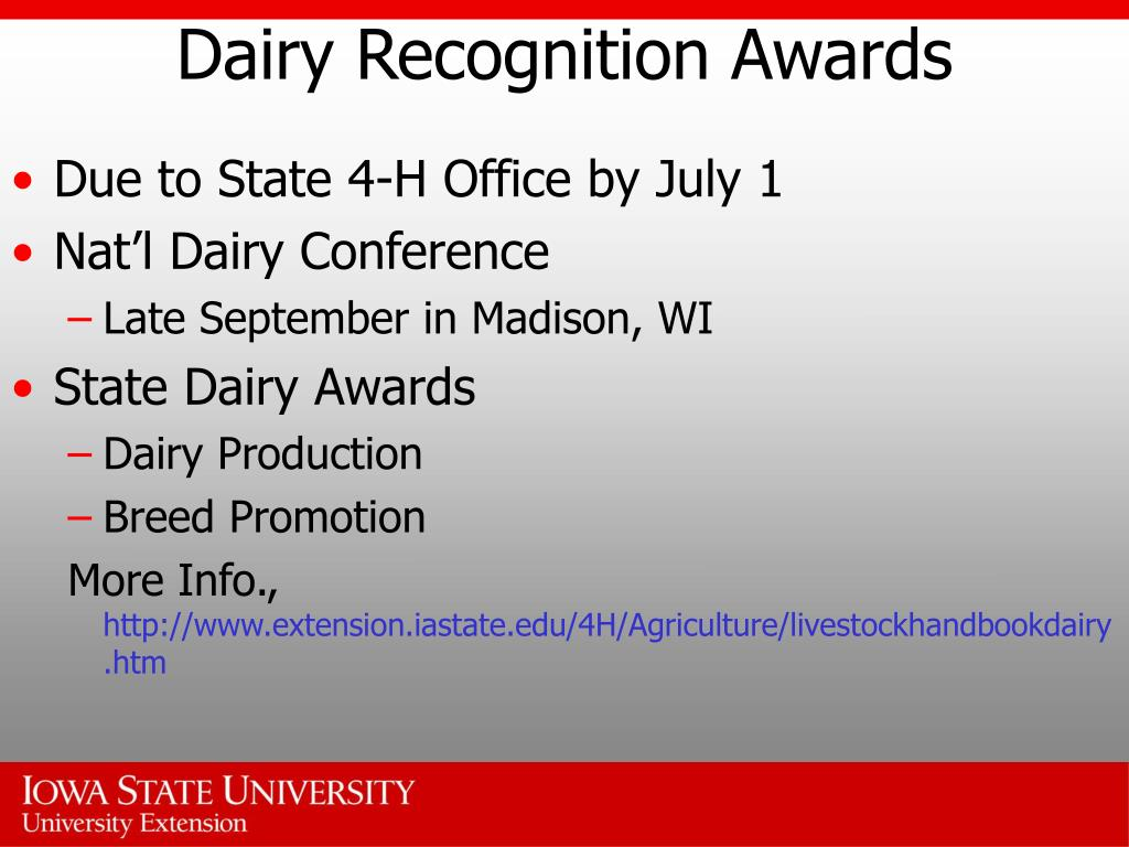 Dairy Recognition Awards