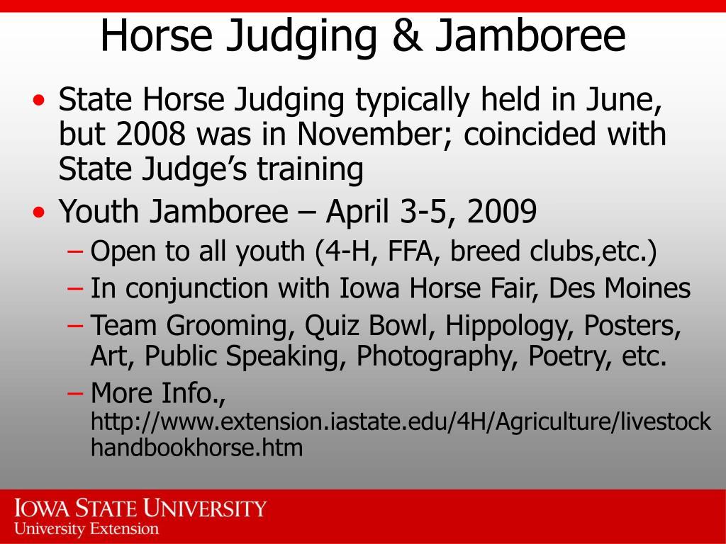 Horse Judging & Jamboree