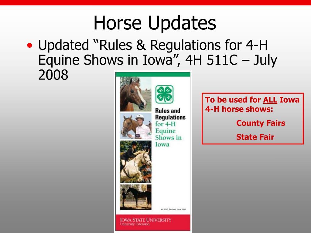 Horse Updates