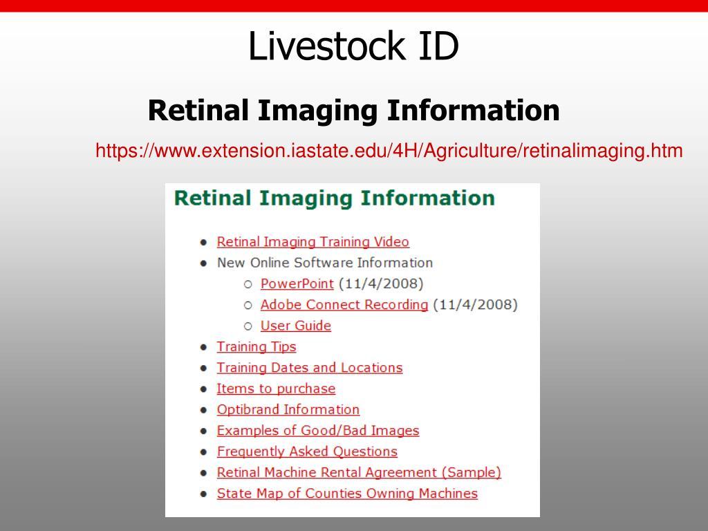 Livestock ID