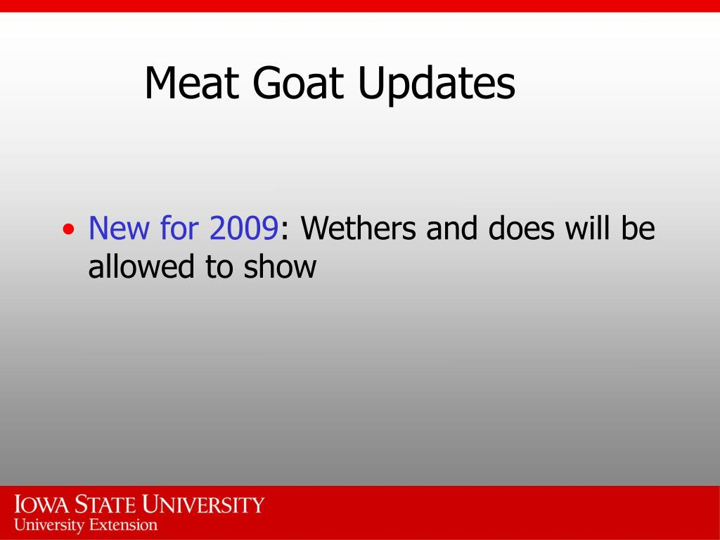 Meat Goat Updates