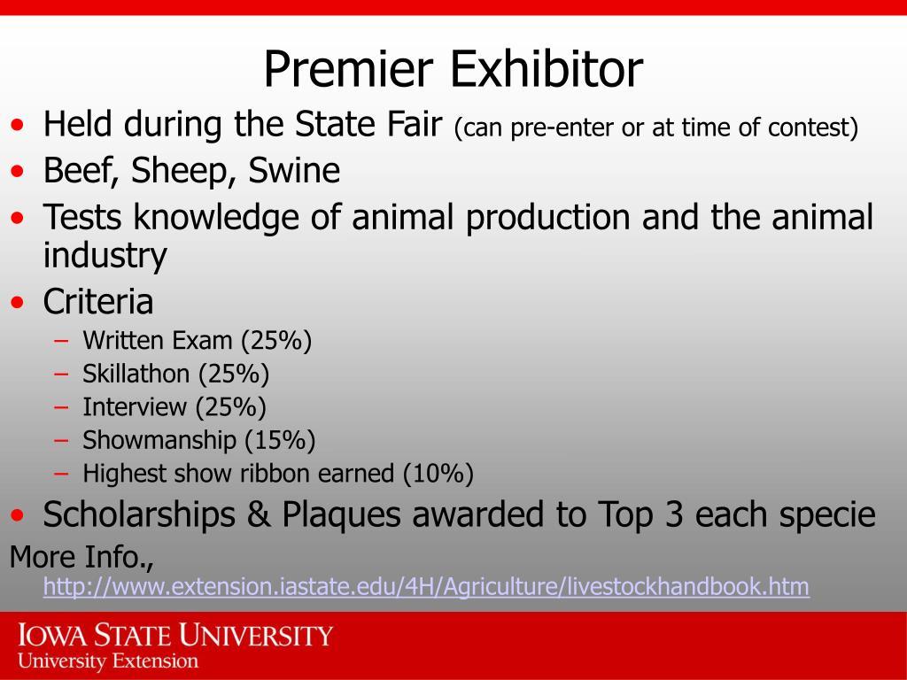 Premier Exhibitor