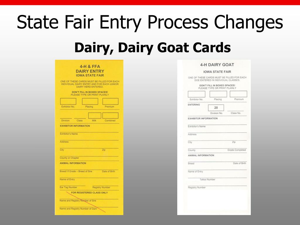 State Fair Entry Process Changes