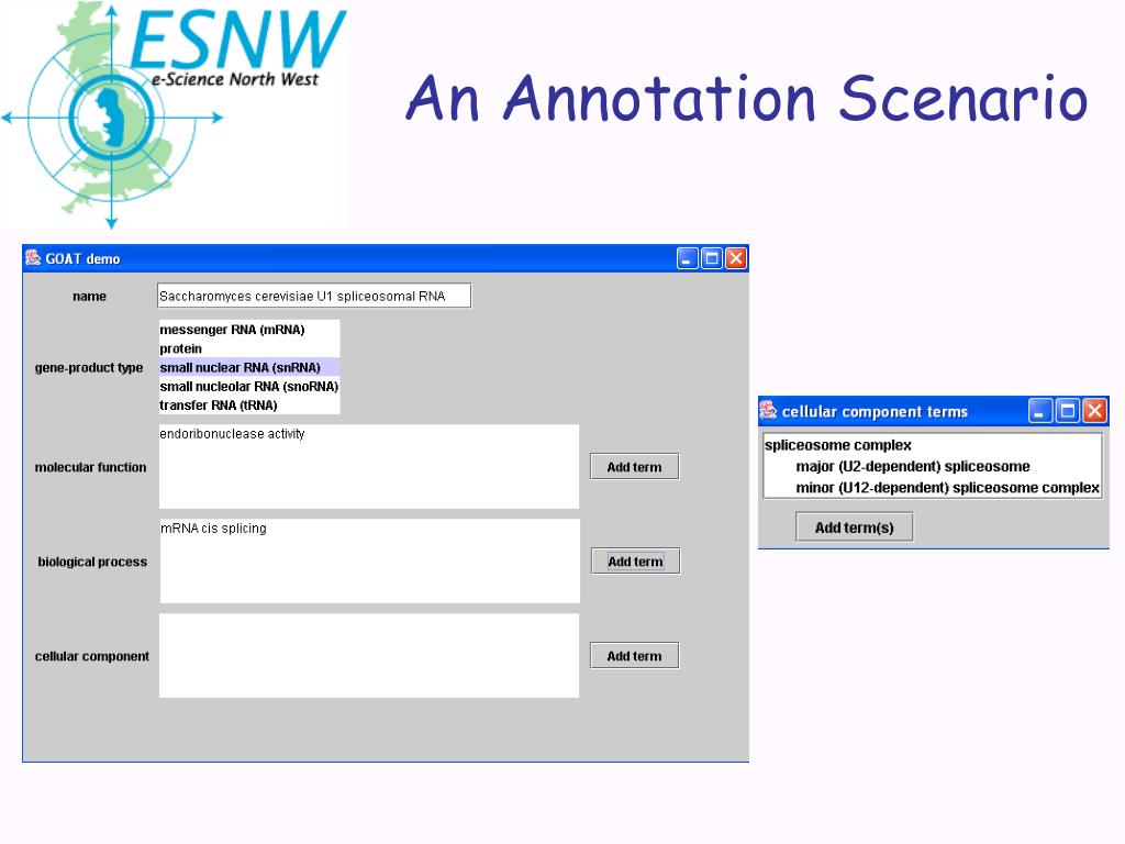 An Annotation Scenario