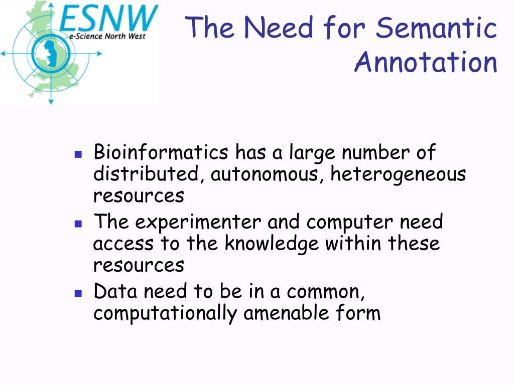 The Need for Semantic Annotation
