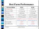 best farm performance