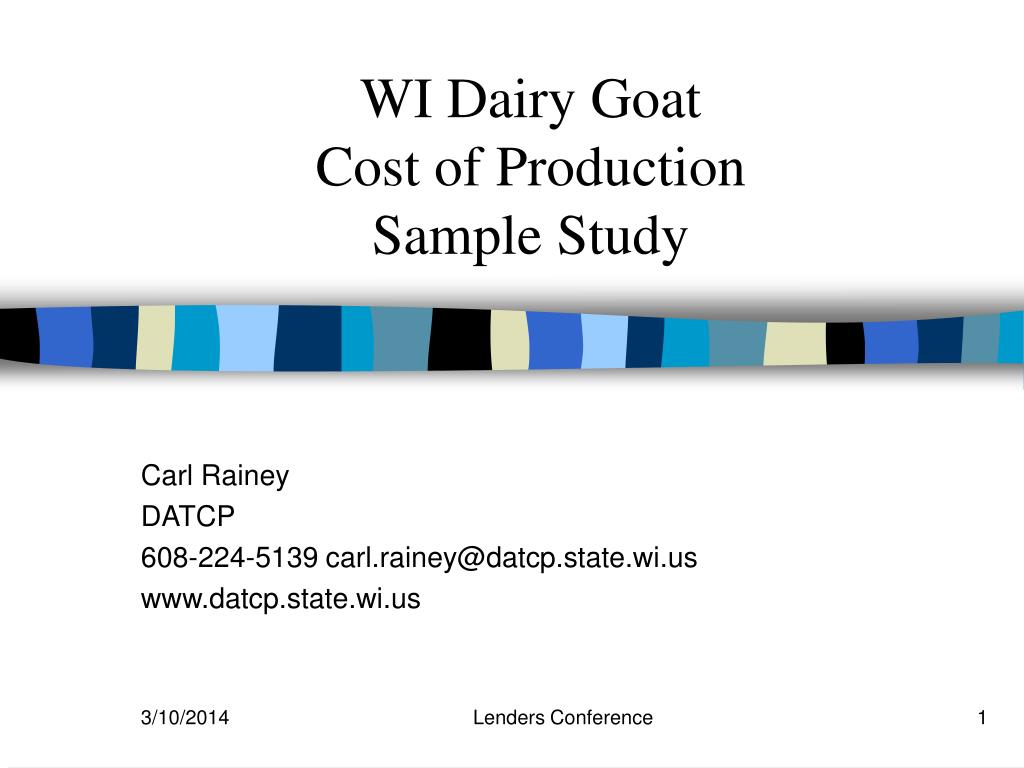 wi dairy goat cost of production sample study