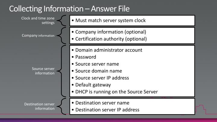 Collecting Information – Answer File