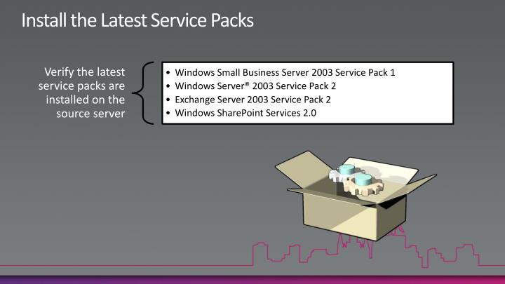 Install the Latest Service Packs